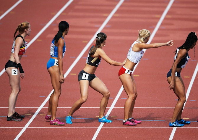 Athletes at the European Athletics Championships