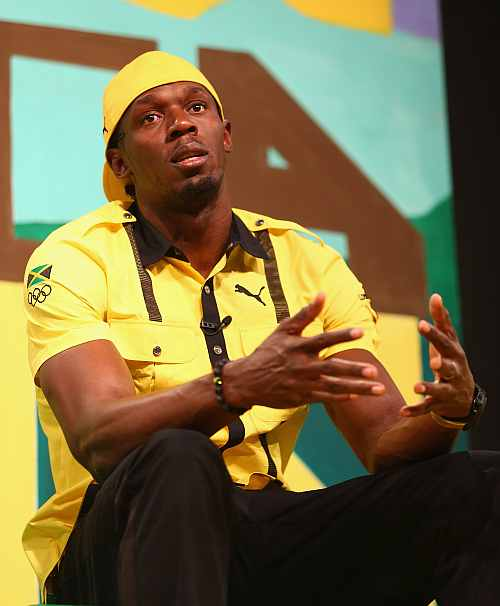 Usain Bolt during the Team Jamaica Press Conference
