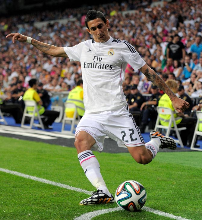 Angel di Maria of Real Madrid