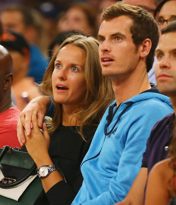 Andy Murray and his girlfriend Kim Sears