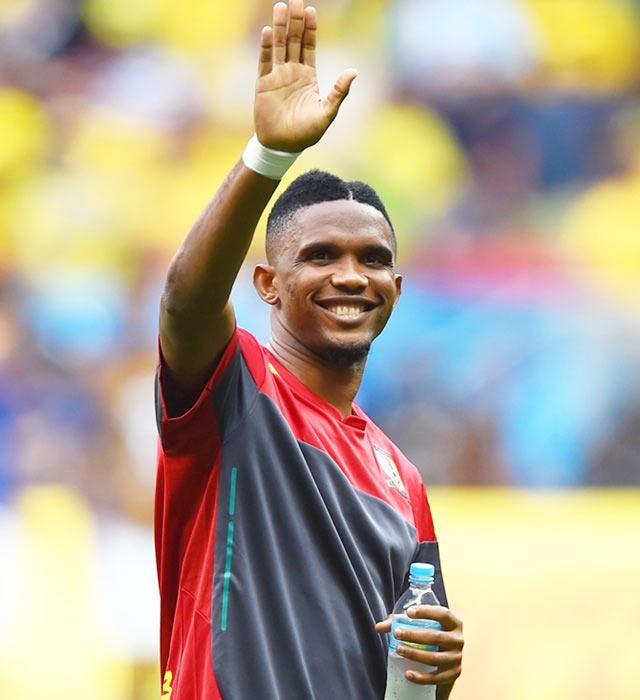 Samuel Eto'o of Cameroon.