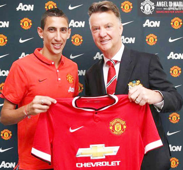 Angel di Maria and Van Gaal