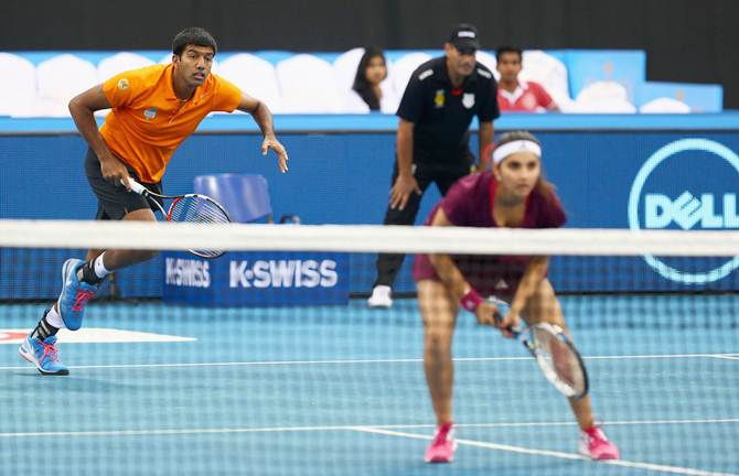 Rediff Sports - Cricket, Indian hockey, Tennis, Football, Chess, Golf - IPTL: Indian Aces trump Japan Warriors 30-17 in opener