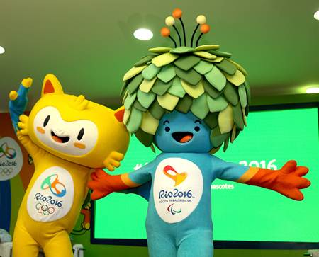 The mascot for the 2016 Olympics in Rio de Janeiro has been named Vinicius, and the Paralympics mascot will go by the name of Tom.