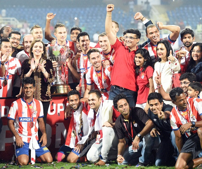 Rediff Sports - Cricket, Indian hockey, Tennis, Football, Chess, Golf - Here's why Atletico Madrid ended link with ISL franchise ATK
