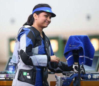 Rediff Sports - Cricket, Indian hockey, Tennis, Football, Chess, Golf - CWG champion Apurvi Chandela wins gold in Shooting Nationals