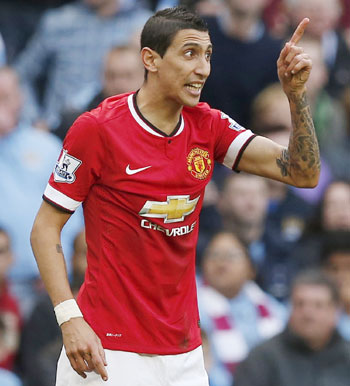 Rediff Sports - Cricket, Indian hockey, Tennis, Football, Chess, Golf - Angel Di Maria may miss Manchester United's trip to Tottenham