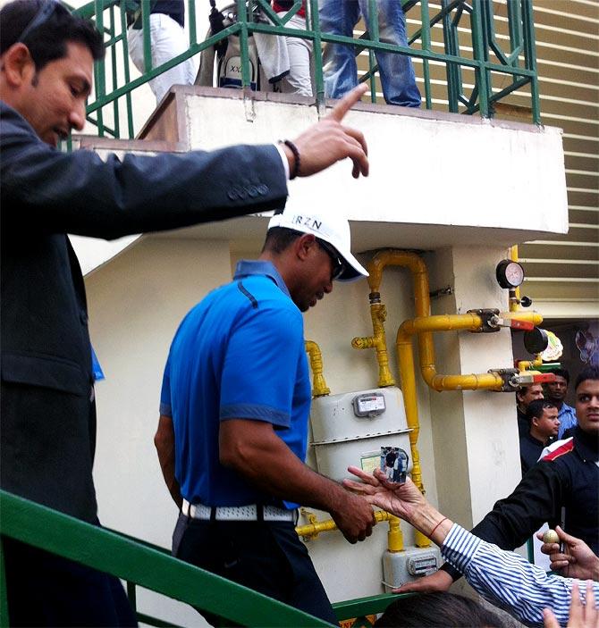 Tiger Woods at the Delhi Golf Club