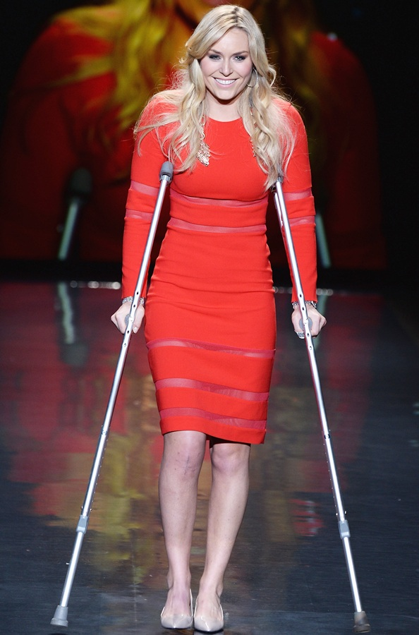 Lindsey Vonn walks the runway