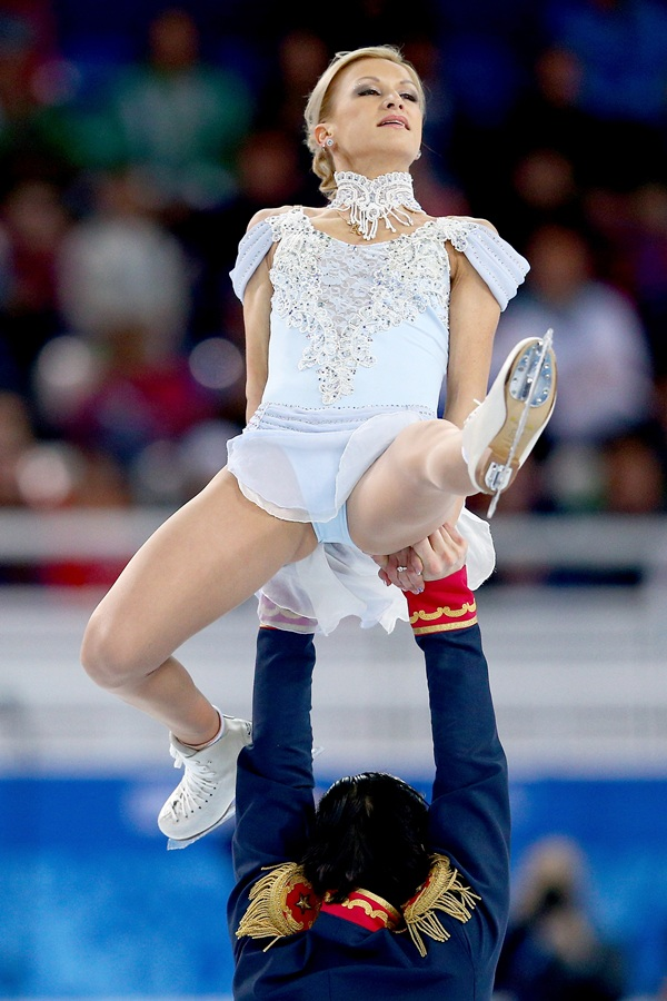 Tatiana Volosozhar and Maxim Trankov of Russia compete in the Figure Skating during the Sochi 2014 Winter Olympics