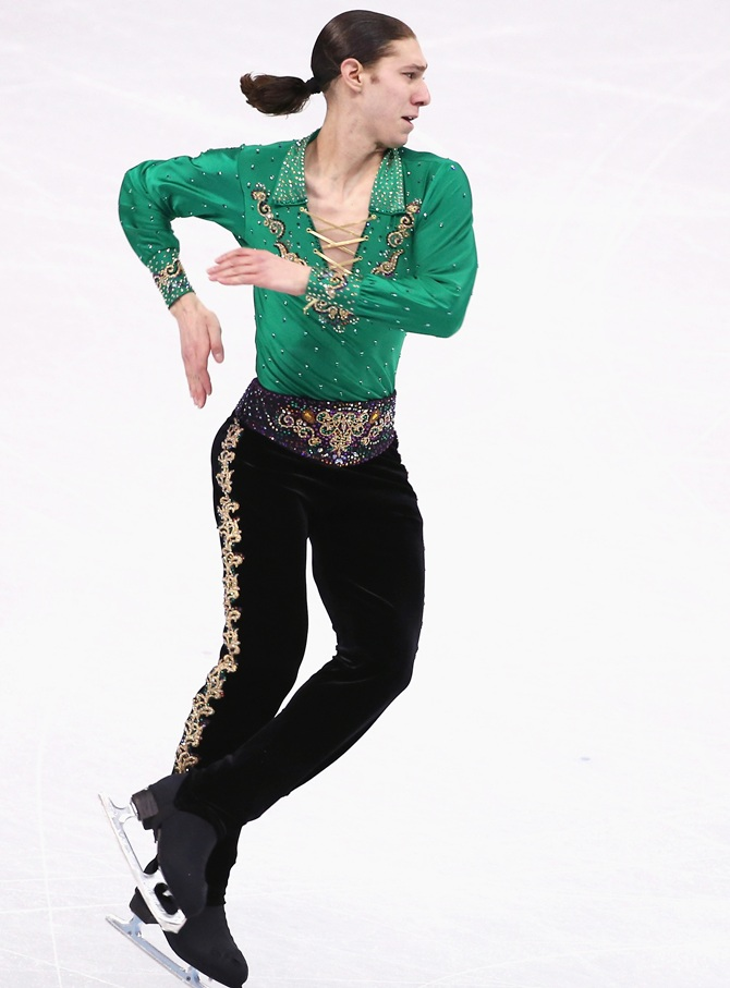 Jason Brown of the United States competes in the Men's Figure Skating.