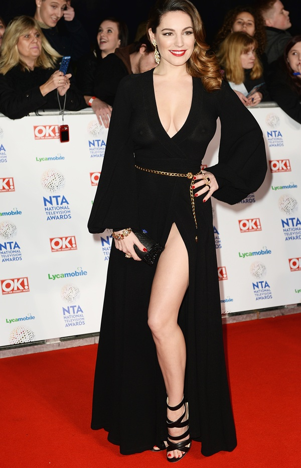 Kelly Brook attends the National Television Awards.
