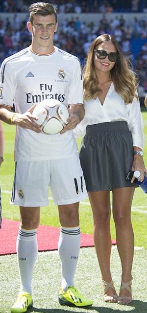 Gareth Bale with girlfriend Emma Rhys Jones