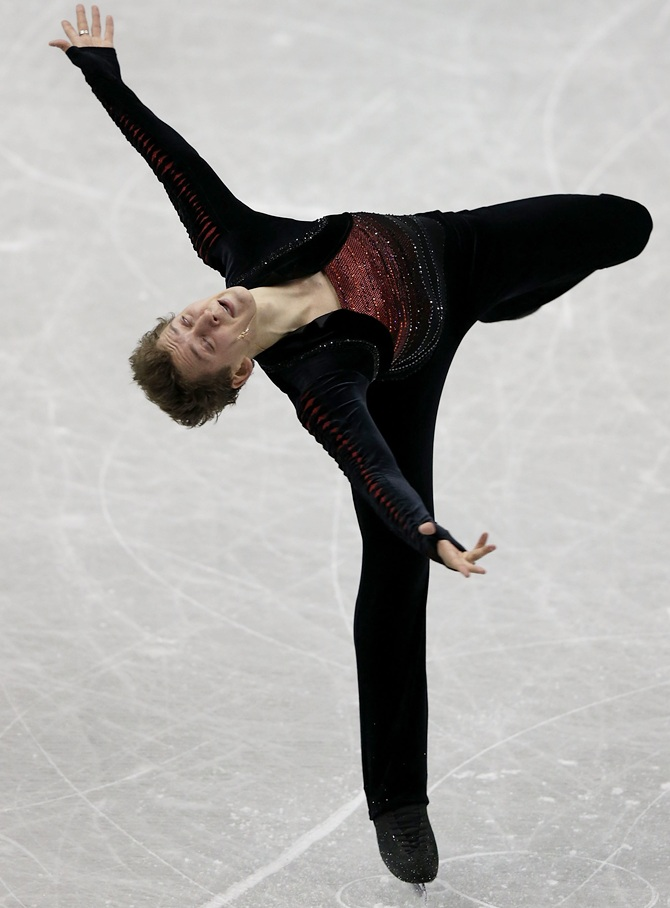 Maxim Kovtun of Russia competes.
