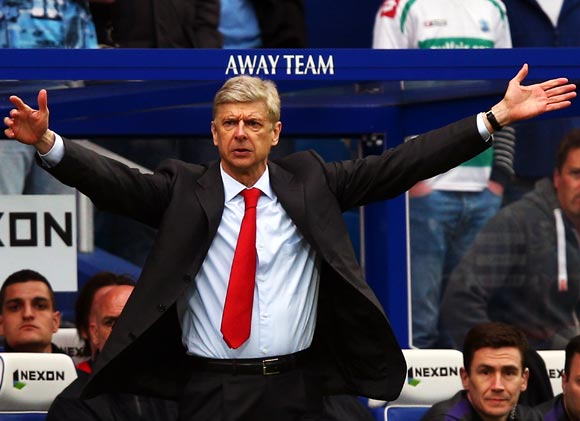 Rediff Sports - Cricket, Indian hockey, Tennis, Football, Chess, Golf - I will manage somewhere next season, says Arsenal's Wenger