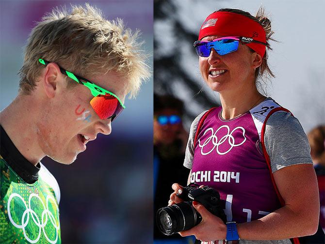 Erik Bjornsen of the United States (left) and Sadie Bjornsen