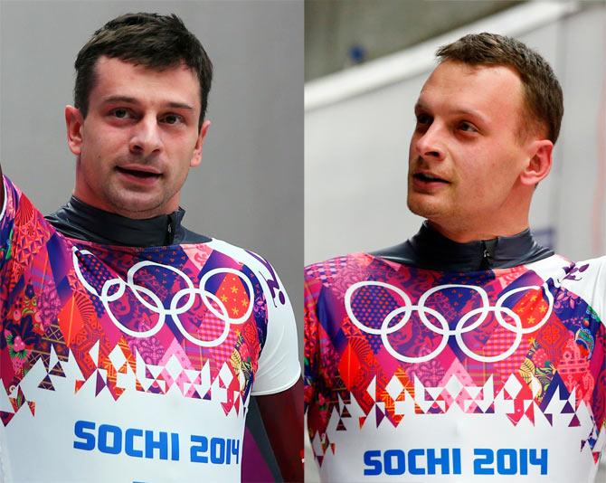 Latvia's Tomass Dukurs and Martins Dukurs
