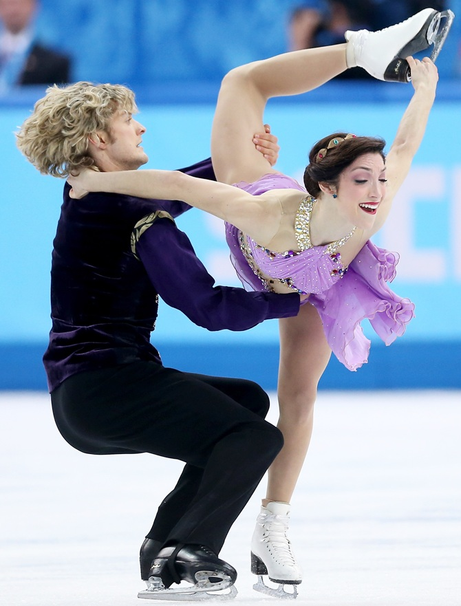 Meryl Davis and Charlie White of the United States compete in the Figure Skating Ice Dance.