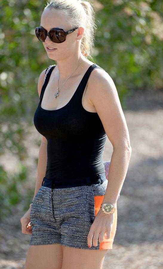 Tennis star, Caroline Wozniacki of Denmark.