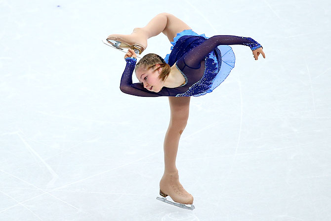 Yulia Lipnitskaya of Russia competes in the Figure Skating Ladies' Short Program on Wednesday