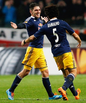 Soriano's 50-metre goal brightens up Europa League