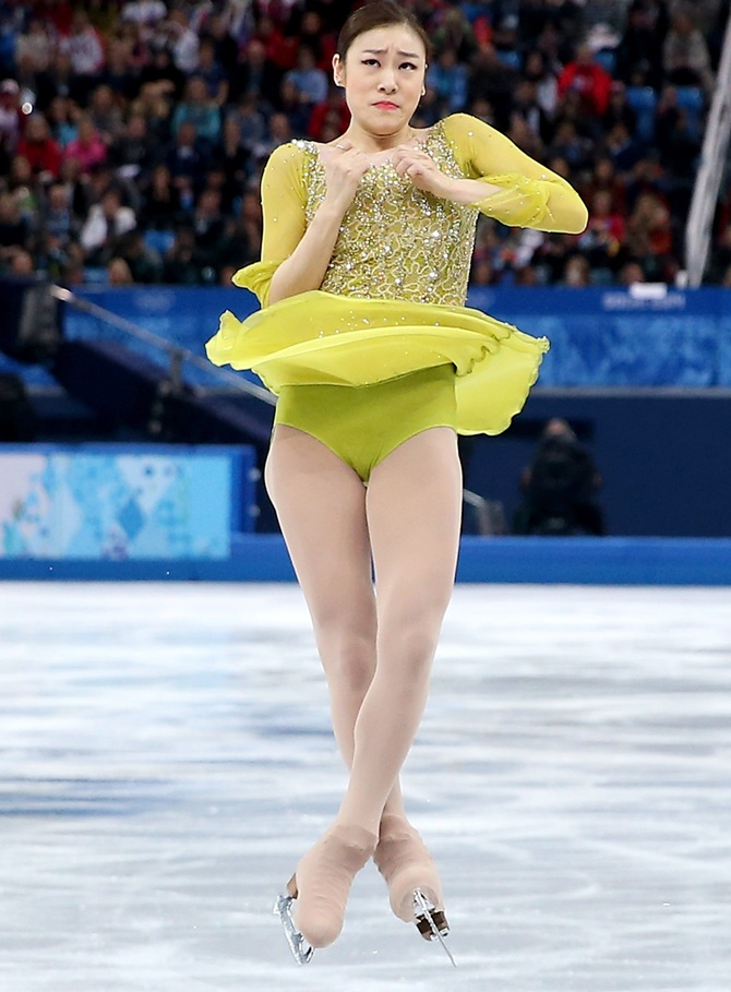 Yuna Kim of South Korea competes in the Figure Skating Ladies' Short Program.
