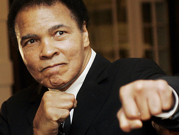 US boxing great Muhammad Ali.