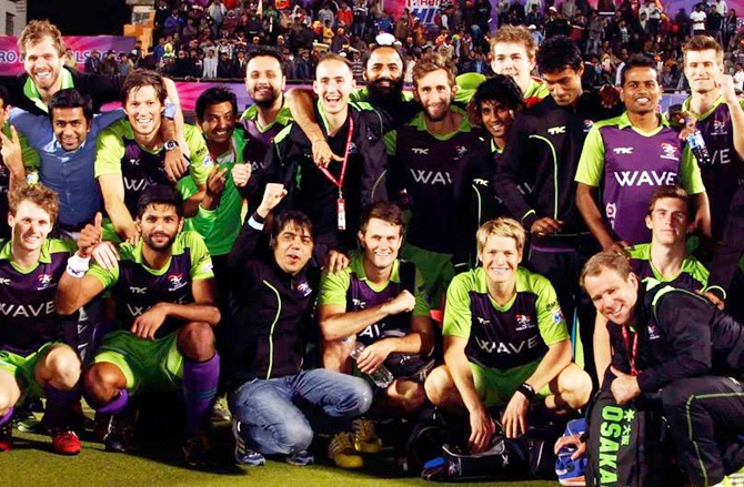 Delhi Waveriders celebrate
