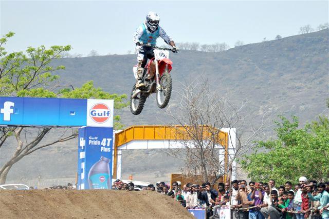 Nashik rider Ganesh Lokhande, astride a Honda CRF