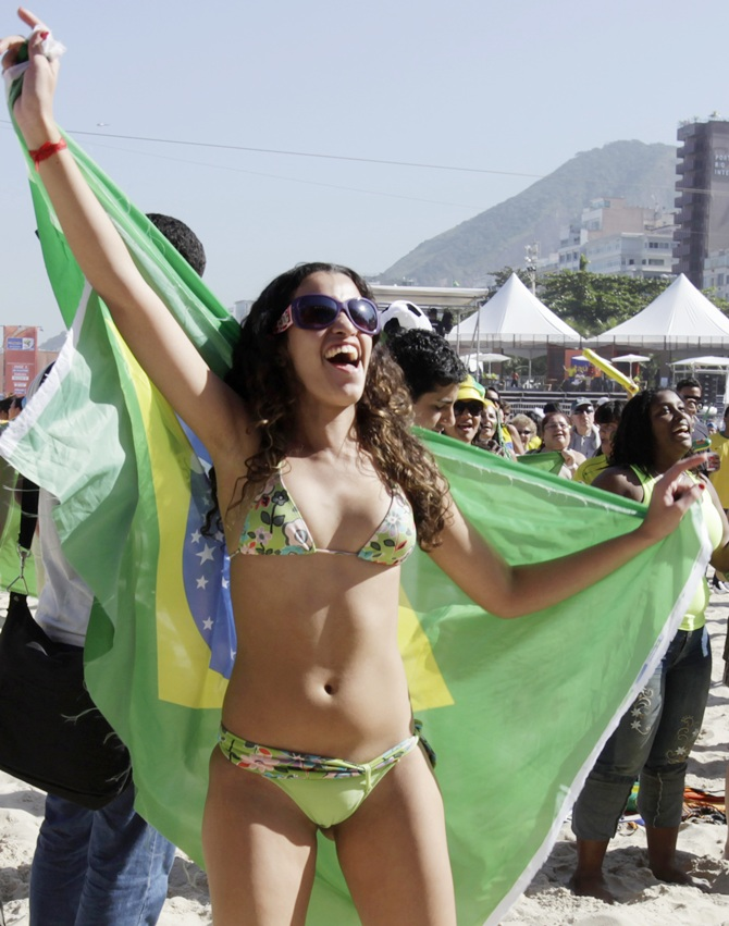 Brazilian football fans.
