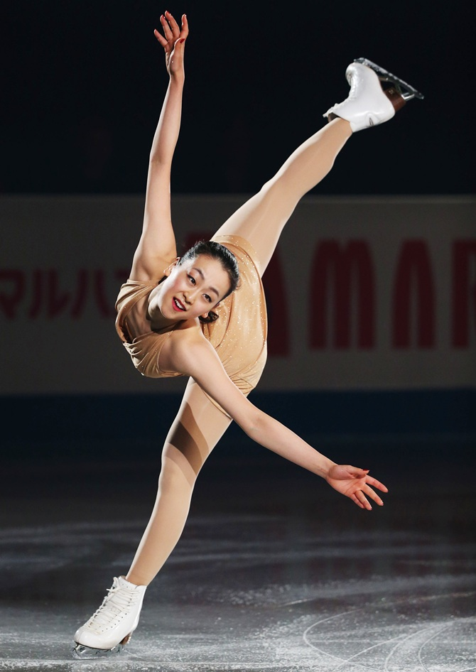 Mao Asada of Japan performs her routine.