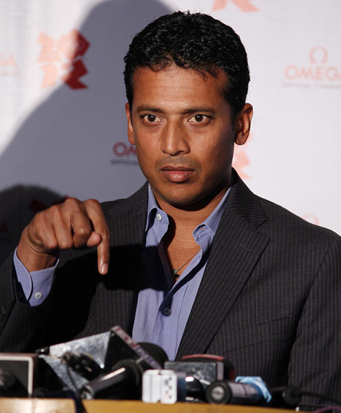 Mahesh Bhupathi during a press conference.