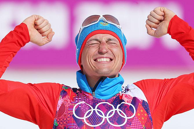 Gold medalist Alexander Legkov of Russia.