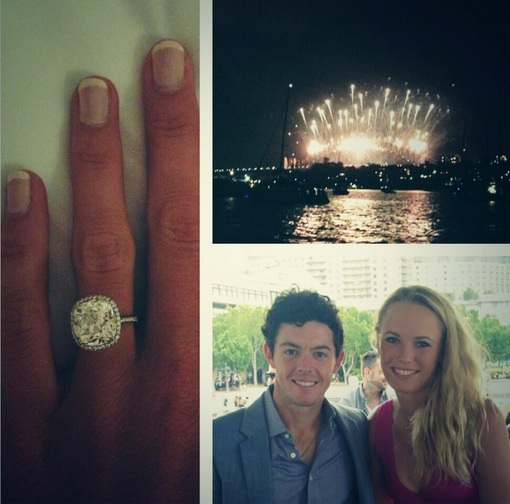 Golfer McIlroy rings in the New Year with Wozniacki engagement