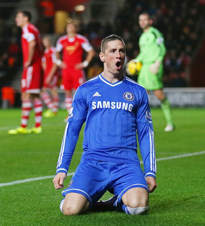 Fernando Torres of Chelsea celebrates