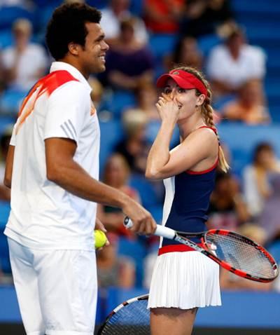 Alize Cornet and Jo-Wilfried Tsonga