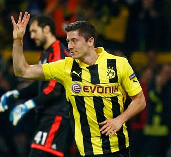 Borussia Dortmund's Robert Lewandowski
