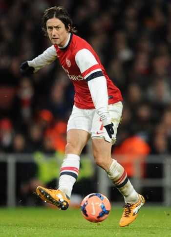 Tomas Rosicky of Arsenal during the FA Cup 3rd Round match against Tottenham Hotspur at Emirates Stadium