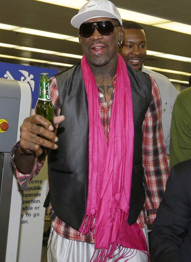 Former NBA basketball player Dennis Rodman