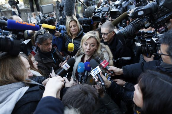 Michael Schumacher's agent Sabine Kehm speaks to media