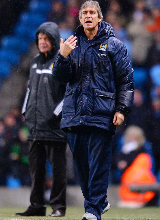 Manuel Pellegrini manager of Manchester City