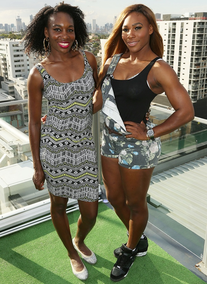 Venus Williams left) and Serena Williams