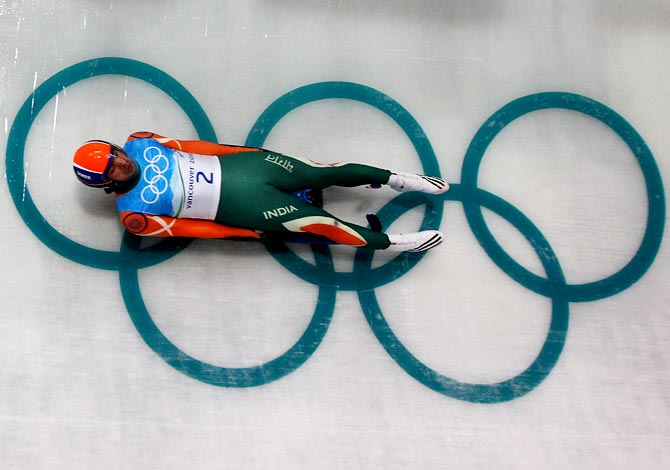Shiva Keshavan in action.