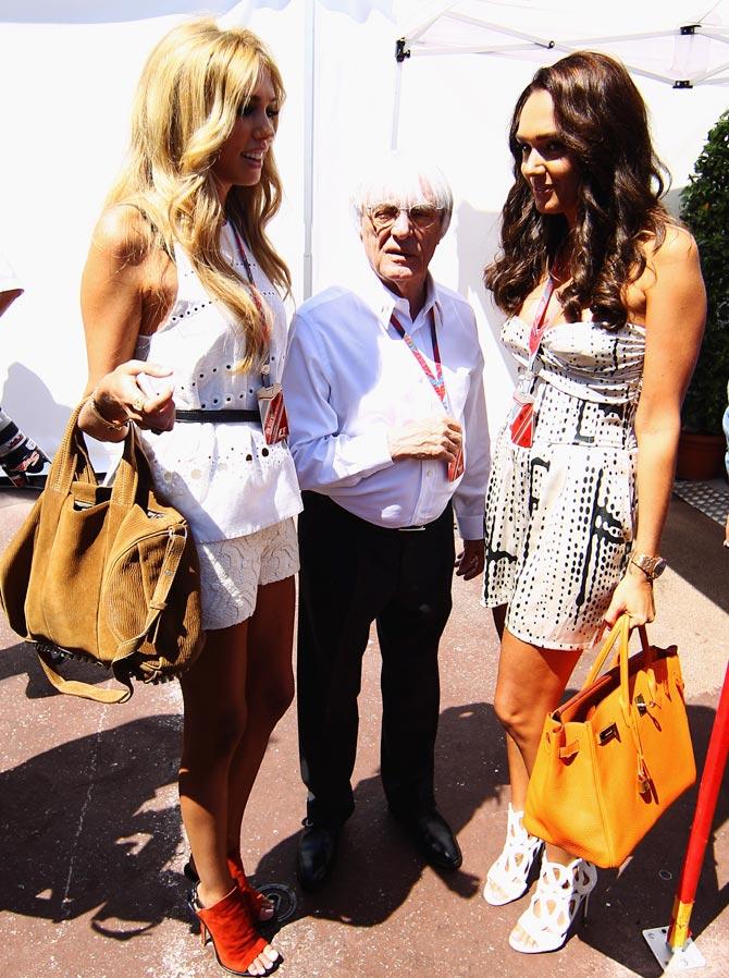 Bernie Ecclestone with his daughters Petra (left) and Tamara