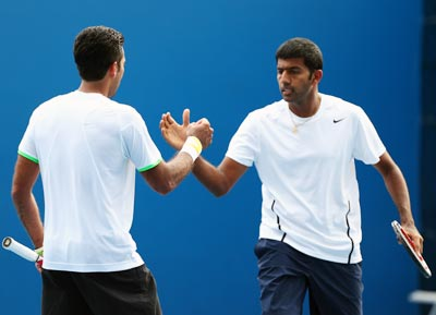 Rohan Bopanna (right) and Aisam-Ul-Haq Qureshi