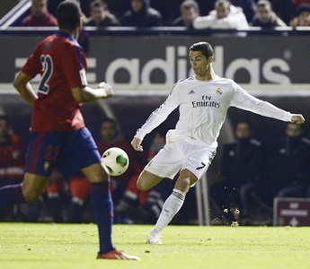 King's Cup: Ronaldo on target as Real knock out Osasuna