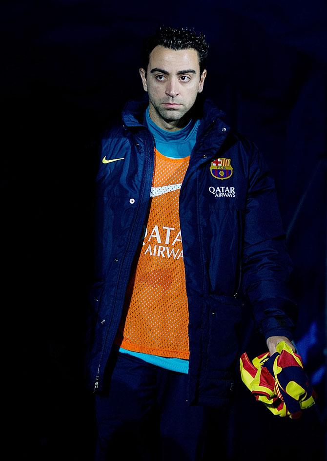 Xavi Hernandez of FC Barcelona