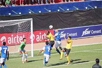 Action from an I-League match between Bengaluru FC and East Bengal