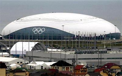 The Bolshoy Ice Dome at the Olympic Park in Sochi