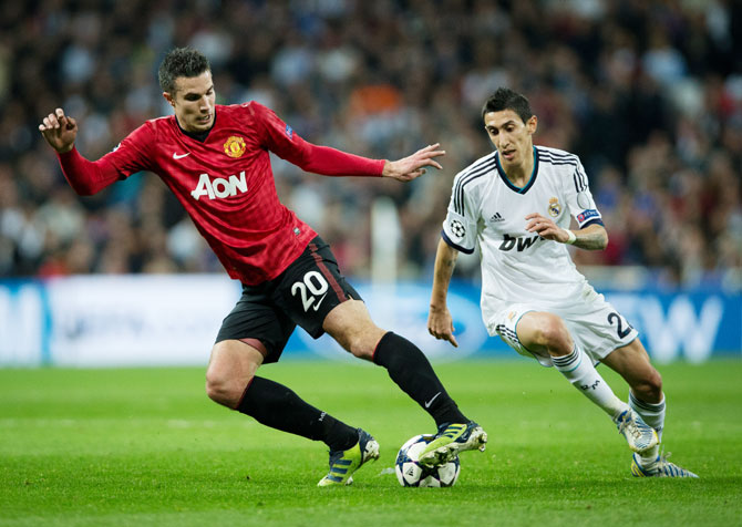 Robin van Persie and Angel di Maria